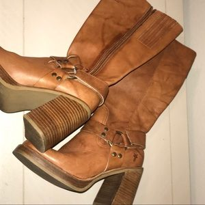 Frye Karma Harness Moto Boots size 6